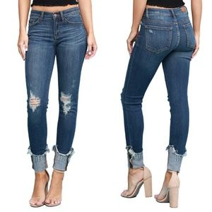 NWT Plus Size Judy Blue Jeans Serina Cuffed Skinny